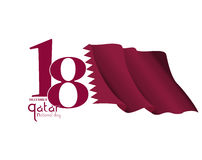Background on the occasion of the celebration of the National Day of Qatar Royalty Free Stock Photography