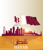 Background on the occasion of the celebration of the National Day of Qatar Stock Photos