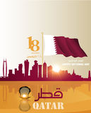 Background on the occasion of the celebration of the National Day of Qatar Royalty Free Stock Photo