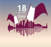 Background on the occasion Qatar national day celebration Royalty Free Stock Image