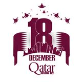 Independence Day qatar National Day vector illustration stock image