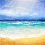 Background ocean beach Stock Photos