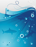 Background ocean illustration Stock Images