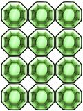 Background from octagonal glass cells Stock Images