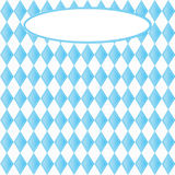 Background for October Fest with blue diamonds Stock Photos