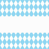 Background for October Fest with blue diamonds Stock Images
