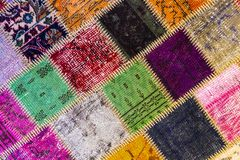 Free Background Of An Old Worn Carpet Stock Image - 112131501