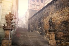 Free Background Of Ancient Stairs In The Europe Royalty Free Stock Images - 168428439