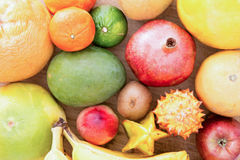 Background Of Assorted Citrus Fruit Royalty Free Stock Image