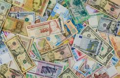 Free Background Of Banknotes From Different Countries Stock Image - 110110041