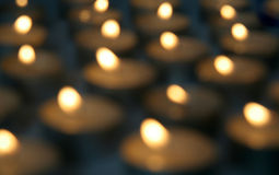 Background Of Burning Candles Royalty Free Stock Images