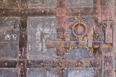 Free Background Of Close Up Of A Grunge Rusty Metal Bolt On An Old Iron Door Royalty Free Stock Photos - 153400628