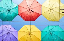 Free Background Of Colorful Umbrellas Stock Photography - 147813812