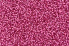 Background Of Glass Beads In Pink With Highlights. Royalty Free Stock Photo