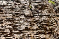 Background Of Pancake Rocks Of Punakaiki, NZ Royalty Free Stock Images