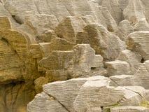 Background Of Pancake Rocks Of Punakaiki, NZ Stock Image