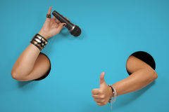 """Free Background Of Poster On The Topic """"singing, Compere, Karaoke Royalty Free Stock Image - 63114666"""
