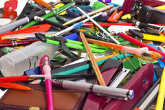 Background Of Stationery Stock Image
