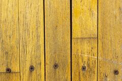Free Background Of Yellow Planks And Rusty Screw Heads Stock Image - 195525311