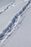 Background of off-piste ski slope with new-fallen snow Royalty Free Stock Images