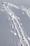 Background of off-piste ski slope with new-fallen snow Royalty Free Stock Photography