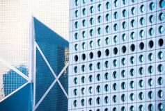 Background of office buildings in Hong Kong Royalty Free Stock Photo