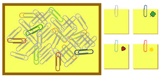 Background with office paper clips royalty free illustration