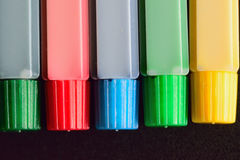 Background Oil color tubes in horizontal frame Stock Photos