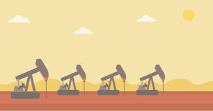 Background of oil derrick. Royalty Free Stock Images