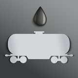 Background oil tank and a drop of petroleum. Stock Photos