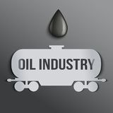 Background oil tank and a drop of petroleum. Stock Image