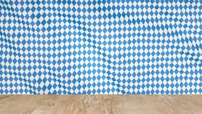 Background for oktoberfest beer festival with a wooden table in the foreground.  stock photography