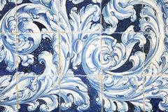 Background of old azulejos in Sevilla, Spain Stock Image