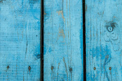 Background from old blue fence Stock Photography