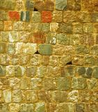 Background of old brick stone wall texture Stock Images