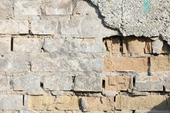 Background old brick wall old. Royalty Free Stock Photography