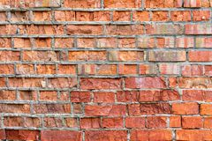 Background of old brick wall pattern texture. stock image