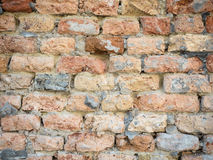 Background of the old brick wall texture close up Royalty Free Stock Photos