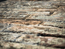 Background of the old brick wall texture close up Stock Photos