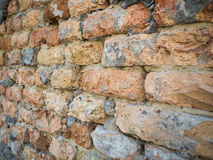 Background of the old brick wall texture close up Royalty Free Stock Photo