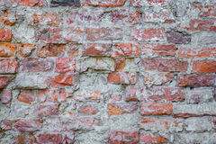 Background old brick wall. Vintage grunge texture Stock Image