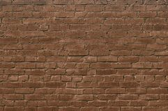 Background of old brown brick wall stock photography