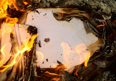 Background an old burning paper Royalty Free Stock Image