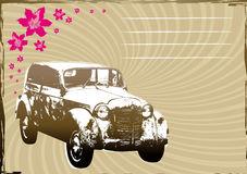 Background with old car stock illustration
