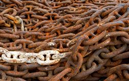 Background of old chains. Stock Photo