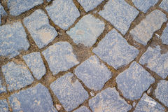 Background old classic paving stones. closeup Royalty Free Stock Images