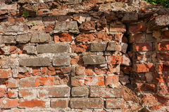 Background from old clay red brick. Background from very old clay red brick royalty free stock photos