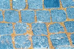 Background of old cobblestone. Royalty Free Stock Photo