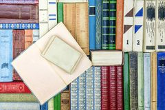 Background of old colorful books.  royalty free stock images