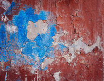 Background of old colorful peeling paint wall Royalty Free Stock Photo